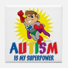 Autism Is My Superpower Tile Coaster