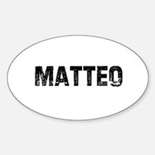 Matteo Oval Decal