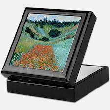 Claude Monet - Poppy Field near Giver Keepsake Box