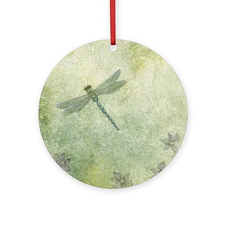 StephanieAM Dragonfly Round Ornament