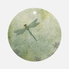 StephanieAM Dragonfly Round Ornament