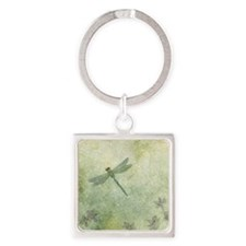 StephanieAM Dragonfly Square Keychain