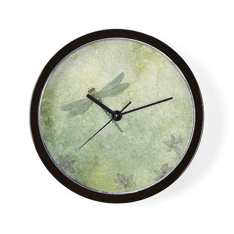 StephanieAM Dragonfly Wall Clock