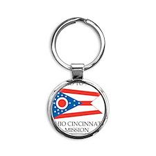 Ohio Cincinnati  Mission - Ohio Fla Round Keychain