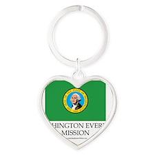 Washington Everett  Mission - Washi Heart Keychain
