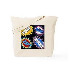 Hero Comic Pow Bam Zap Bursts Tote Bag