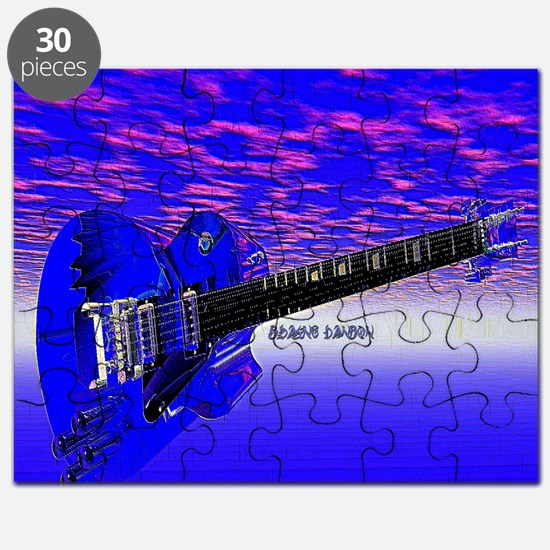 Big Blue Guitar Puzzle