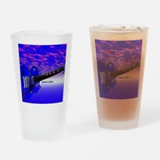 Big Blue Guitar Drinking Glass