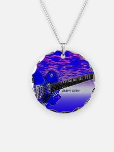 Big Blue Guitar Necklace