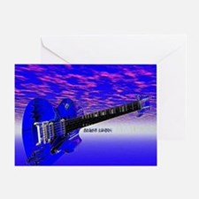 Big Blue Guitar Greeting Card