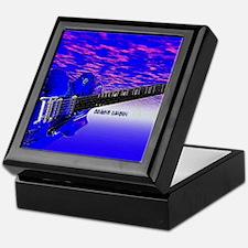 Big Blue Guitar Keepsake Box