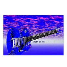 Big Blue Guitar Postcards (Package of 8)