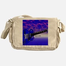 Big Blue Guitar Messenger Bag