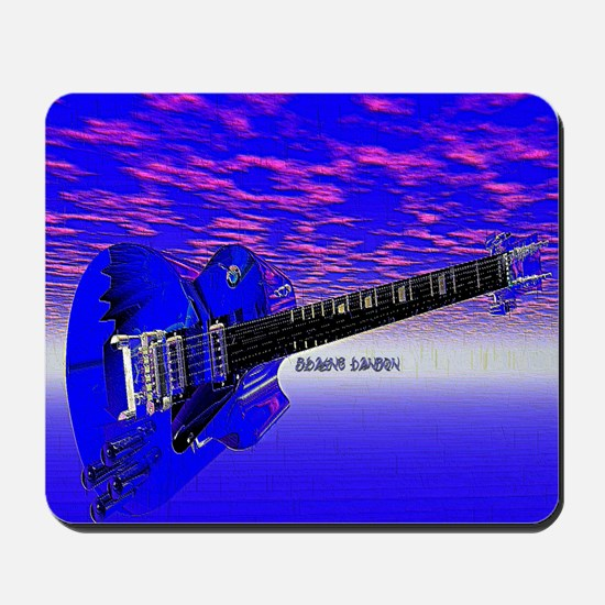 Big Blue Guitar Mousepad