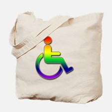Differently Abled Rainbow Tote Bag