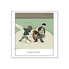 "Beethovens Third Square Sticker 3"" x 3"""