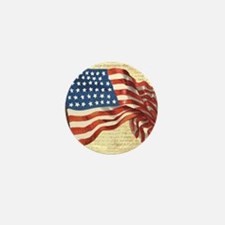 Vintage American Flag Patriotic Mini Button