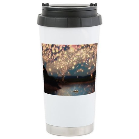Wish Lanterns for Love Stainless Steel Travel Mug