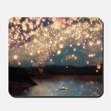 Wish Lanterns for Love Mousepad