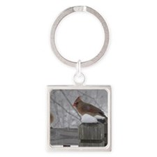 Northern Cardinal Females Square Keychain
