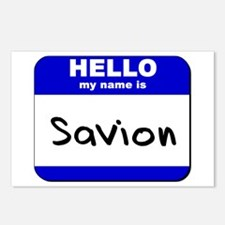 hello my name is savion  Postcards (Package of 8)