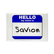 hello my name is savion Rectangle Magnet
