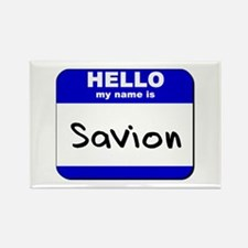 hello my name is savion Rectangle Magnet