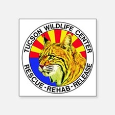 "Tucson Wildlife Center New  Square Sticker 3"" x 3"""