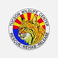 "Tucson Wildlife Center New Logo Large 3.5"" Button"
