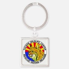 Tucson Wildlife Center New Logo La Square Keychain