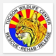 """Tucson Wildlife Center N Square Car Magnet 3"""" x 3"""""""