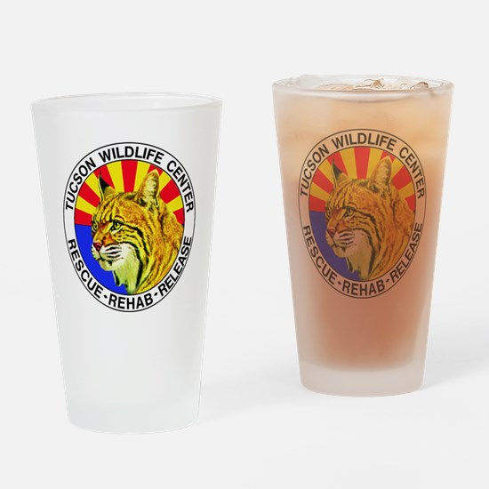 Tucson Wildlife Center New Logo Lar Drinking Glass