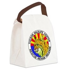 Tucson Wildlife Center New Logo L Canvas Lunch Bag