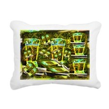 Beer and Whiskey Rectangular Canvas Pillow