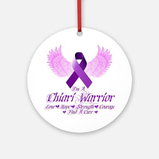I'm A Chiari Warrior Round Ornament