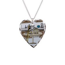 Rosin Bran Necklace Heart Charm