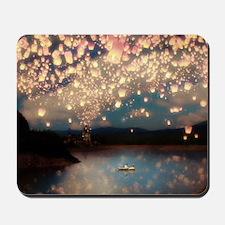 Wish Lanterns for Love Mousepad