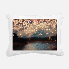 Wish Lanterns for Love Rectangular Canvas Pillow