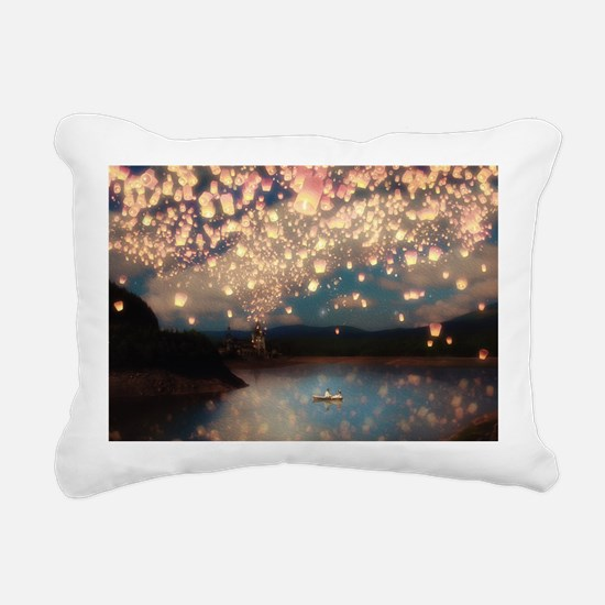 Wish Lanterns for Love Rectangular Canvas Pillow