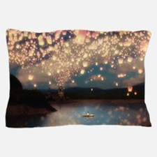 Wish Lanterns for Love Pillow Case