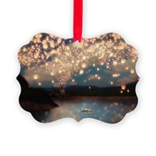 Wish Lanterns for Love Ornament