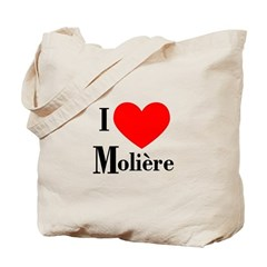 I Love Moliere Tote Bag