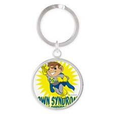 Down Syndrome Is My Superpower Round Keychain