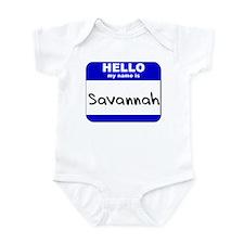 hello my name is savannah  Onesie