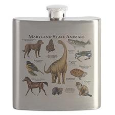 Maryland State Animals Flask