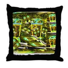 Beer and Whiskey Throw Pillow