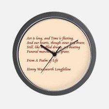 Psalm of Life Wall Clock