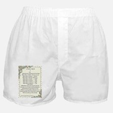 st. francis/pope francis A Simple Pra Boxer Shorts