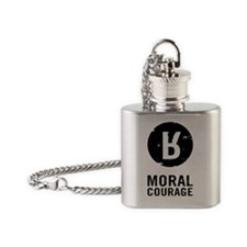 Moral Courage_Black Flask Necklace