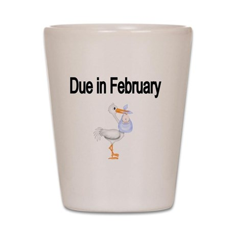 Due in February Stork-boy Shot Glass